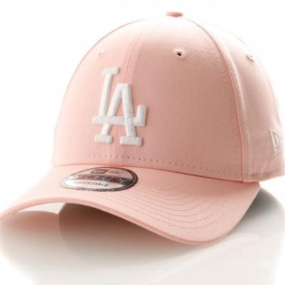 Afbeelding van New Era League Essential 9Forty 11945655 Dad Cap Pink Lemonade/Optic White Los Angeles Dodgers