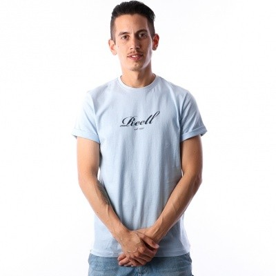 Reell T-Shirt Script T-Shirt 1301-015 1300 Sky Blue
