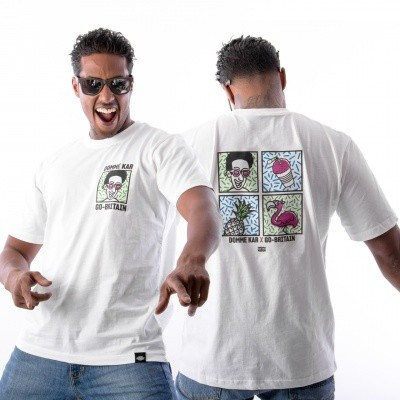 Afbeelding van Domme Kar x Go-Britain Skaafijs Tee DK-GB-CW T shirt Cocktail White