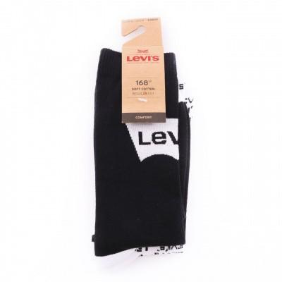 Afbeelding van Levi`s Bodywear REGULAR CUT LOGO AOP 2P LEVIS 168SF Sokken white / black