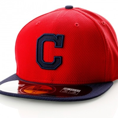 Afbeelding van New Era Diamond Era 21184489 Fitted Cap Red/Navy Mlb Cleveland Indians