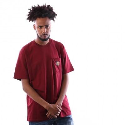 Afbeelding van Carhartt Wip S/S Pocket T-Shirt I022091 T Shirt Cranberry