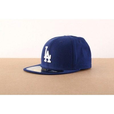 New Era BASIC Fitted cap Authentic Los Angeles Dodgers Blauw
