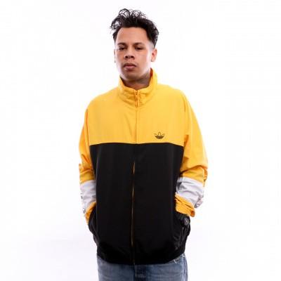 Afbeelding van Adidas Blocked Warm Up Dv3118 Tracktop Black/Bold Gold
