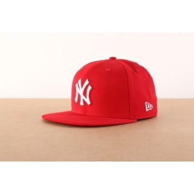 New Era 10011573 Fitted cap MLB basic NY Yankees Rood