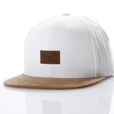 Afbeelding van Reell Snapback cap Suede 6-Panel Offwhite Herringbone