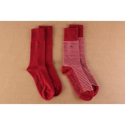 Afbeelding van Levi's Bodywear 943006001-072 Socks 168SF regular cut stripe 2-pack Rood