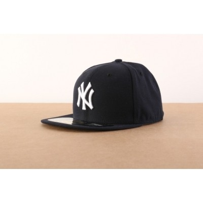 New Era BASIC Fitted cap Authentic New York Yankees Blauw