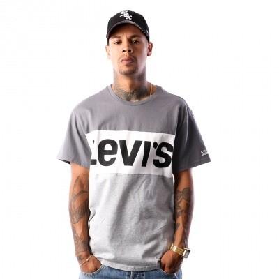 Afbeelding van Levi`s SS COLORBLOCK TEE 56573-0003 T-Shirt Quiet Shade/ Marshmallow/ M Grey Hthr