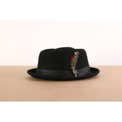 Brixton 00036-0135 Hat Stout pork pie Zwart