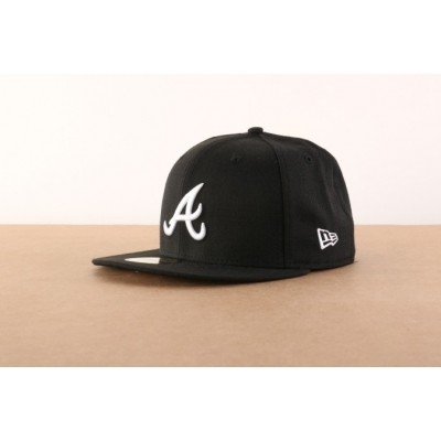 Afbeelding van New Era 10047487 Fitted Cap Mlb Basic Atlanta Braves Zwart