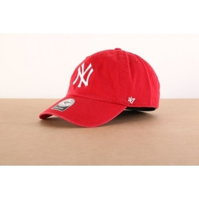 47 Brand B-RGW17GWS-RD Dad cap Clean up NY Yankees Rood