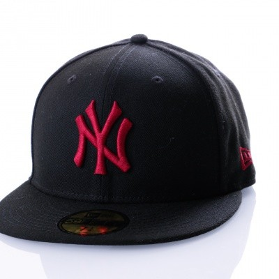 Afbeelding van New Era League Essential 59Fifty New York Yankee 80635924 Fitted Cap Black/Cardinal Mlb