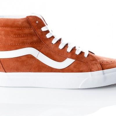 Afbeelding van Vans UA SK8-Hi Reissue VA2XSBU5K Sneakers (Pig Suede) leather brown/true white