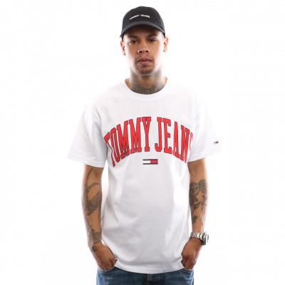 Afbeelding van Tommy Hilfiger TJM Collegiate Logo Tee DM0DM05569 T Shirt Classic White