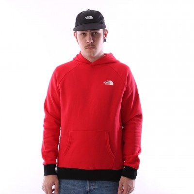 The North Face T92ZWU-682 Hooded Raglan red box Rood