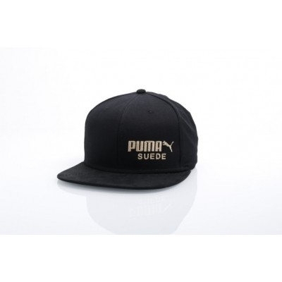 Puma 21489-1 Strapback cap Archive suede Zwart