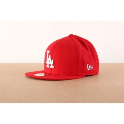 Afbeelding van New Era 10047498 Fitted Cap Mlb Basic La Dodgers Rood