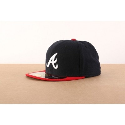 New Era 10010240 Fitted cap Authentic Atlanta Braves Blauw
