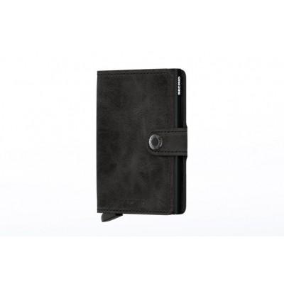 Secrid MV-BLACK Wallet Miniwallet vintage Zwart