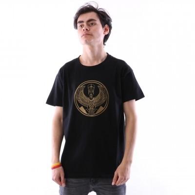 Afbeelding van Pharaoh Official T-shirt Gold on black Zwart