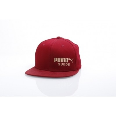 Puma 21489-2 Strapback cap Archive suede Rood