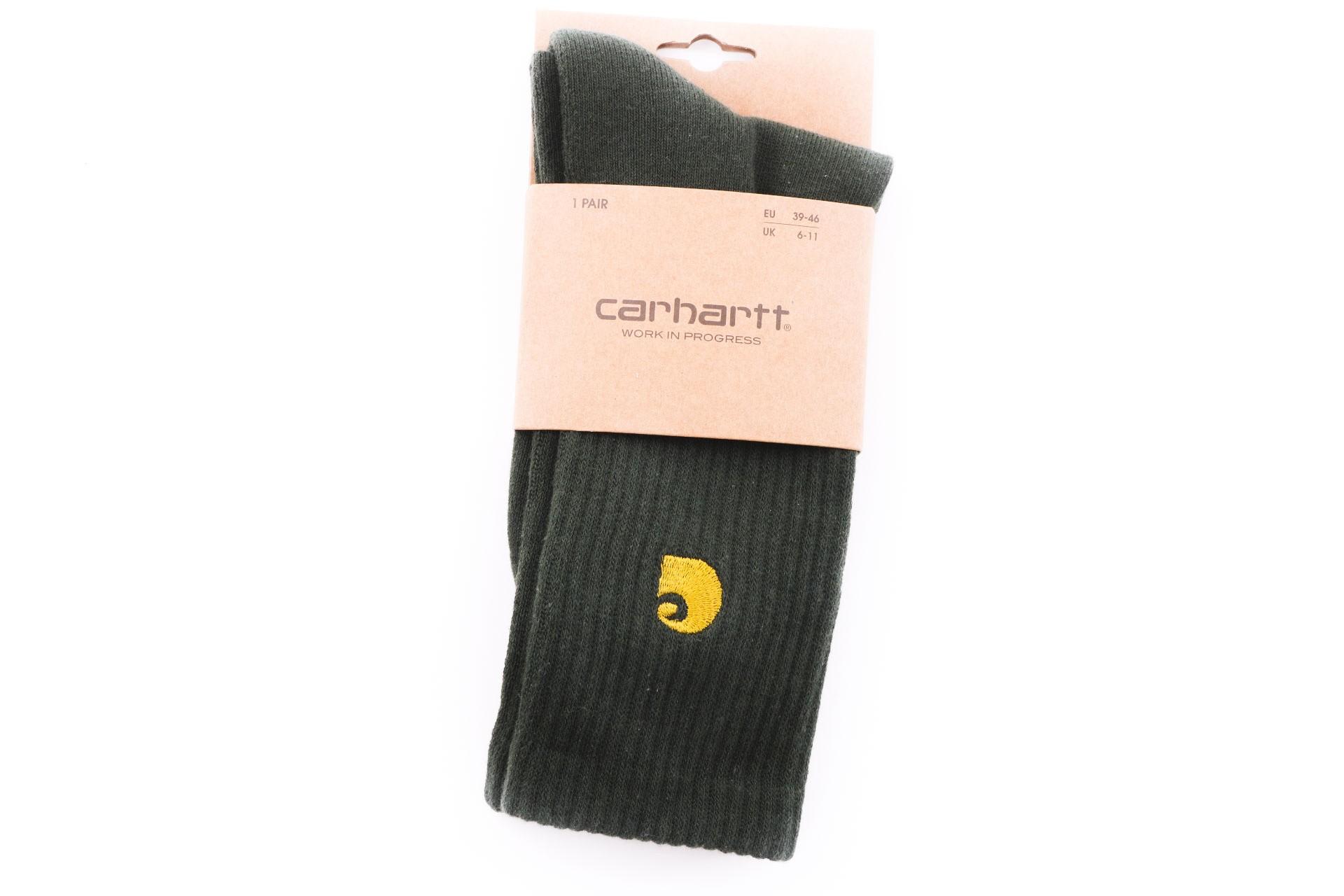 Foto van Carhartt WIP Chase Socks I026527 Sokken Black / Gold