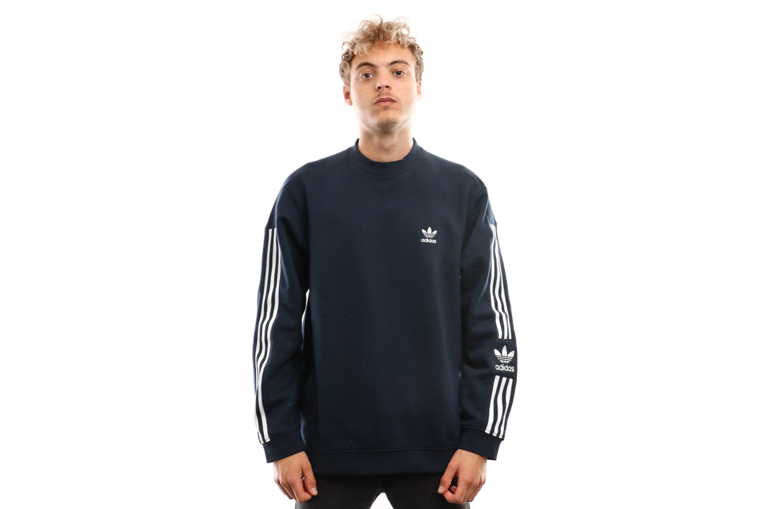 Foto van Adidas Lock Up Crew Ed6122 Crewneck Collegiate Navy