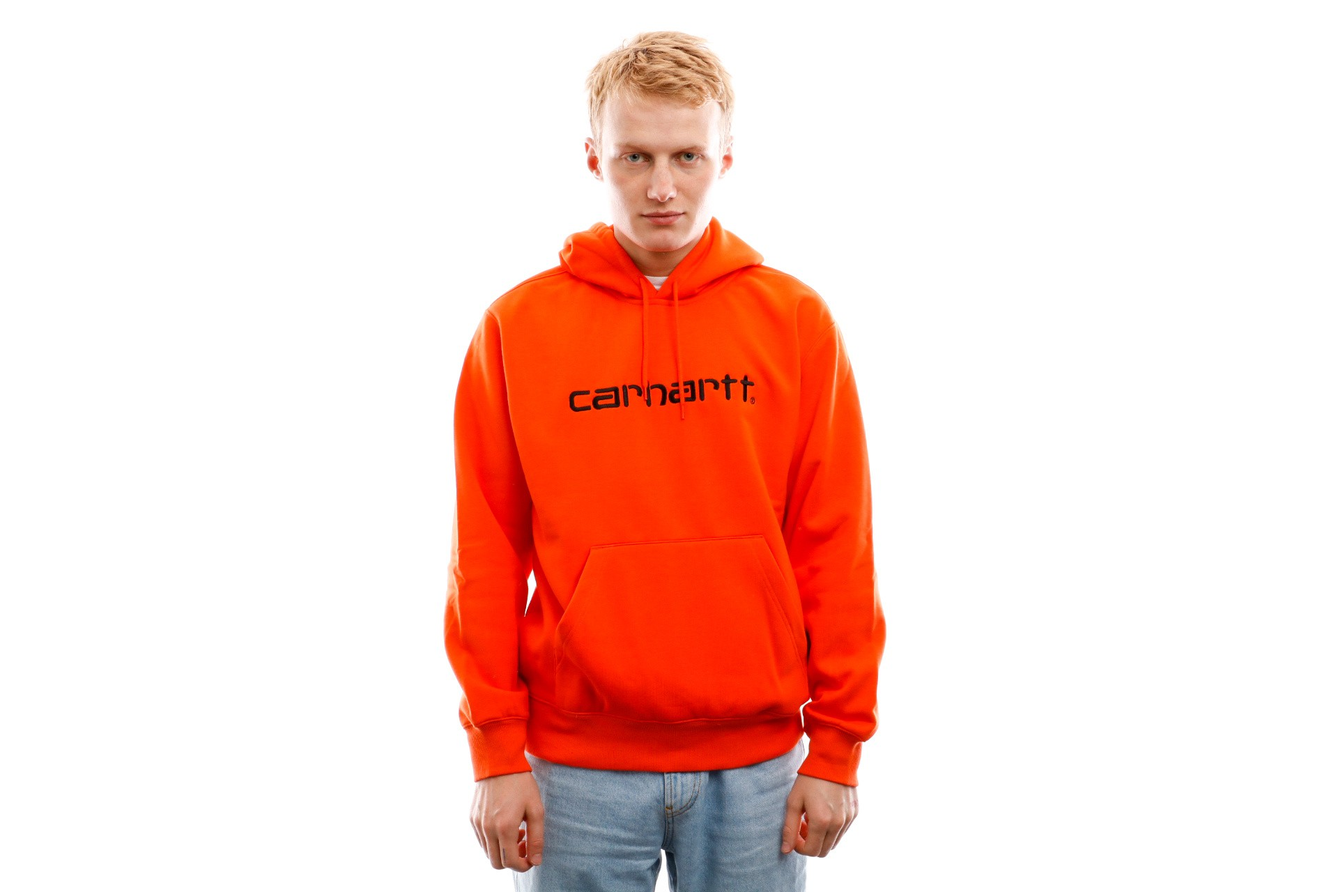 Foto van Carhartt WIP Crewneck Hooded Carhartt Sweat Pepper / Black I027093