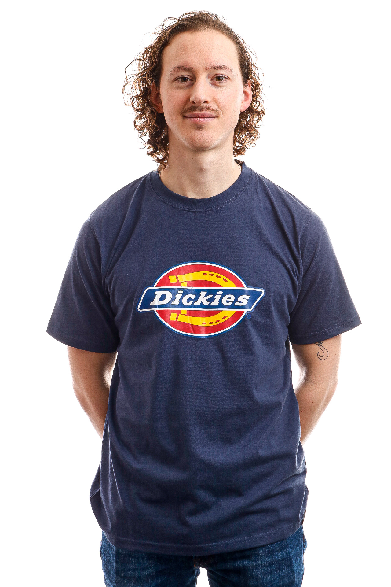 Foto van Dickies T-Shirt Horseshoe Tee Men Navy Blue DK60075XNV01