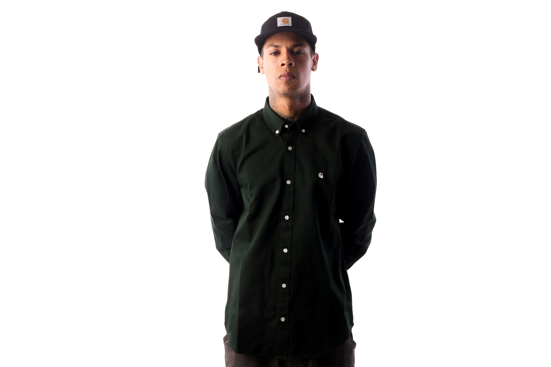 Foto van Carhartt WIP L/S Madison Shirt I023339 Blouse Loden / Wax