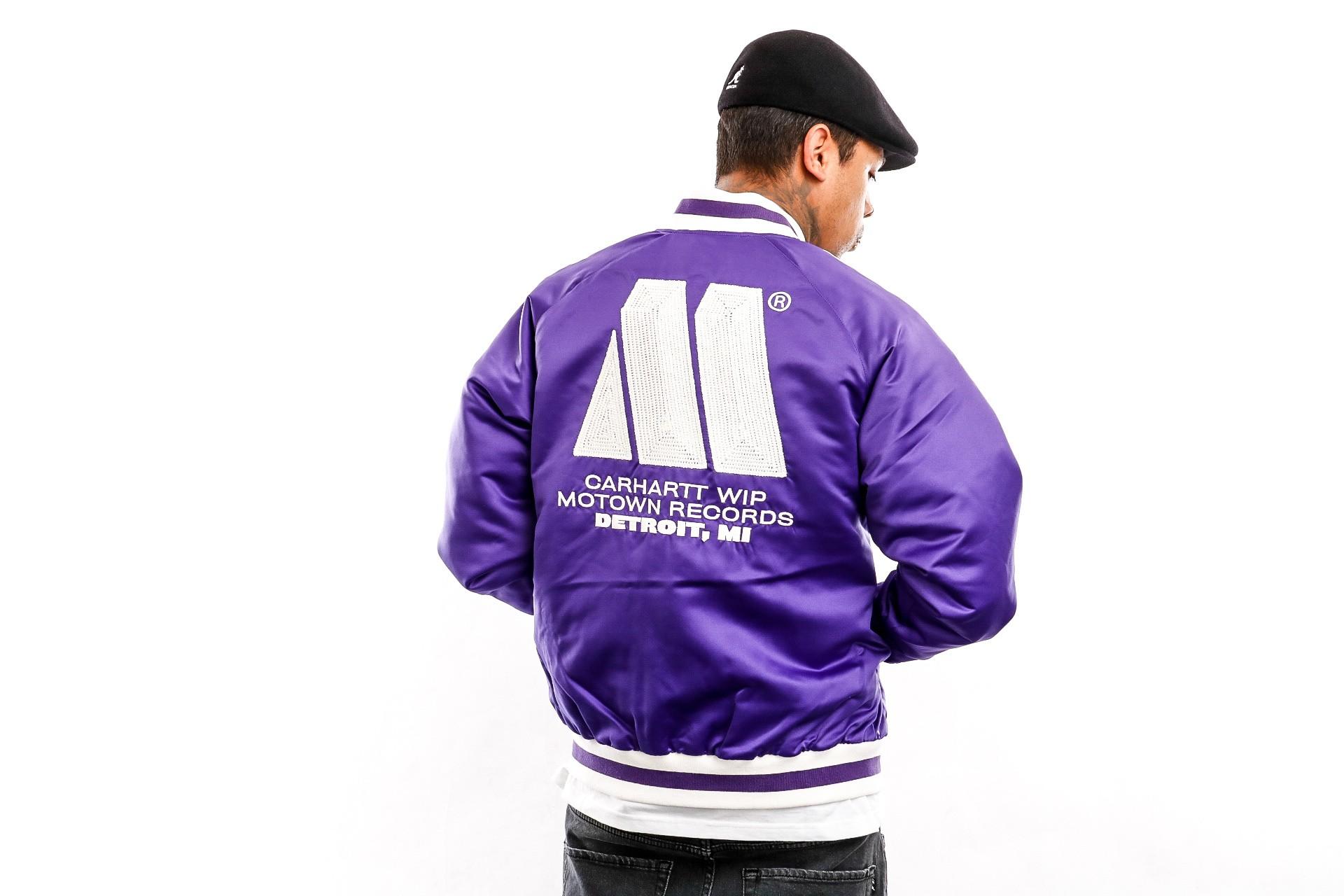Foto van Carhartt WIP Jacket Motown Varsity Jacket Prism Violet I027168