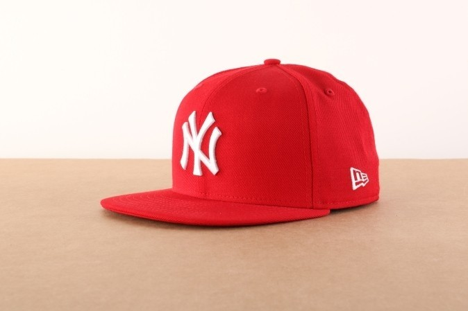 Afbeelding van New Era 10011573 Fitted cap MLB basic NY Yankees Rood