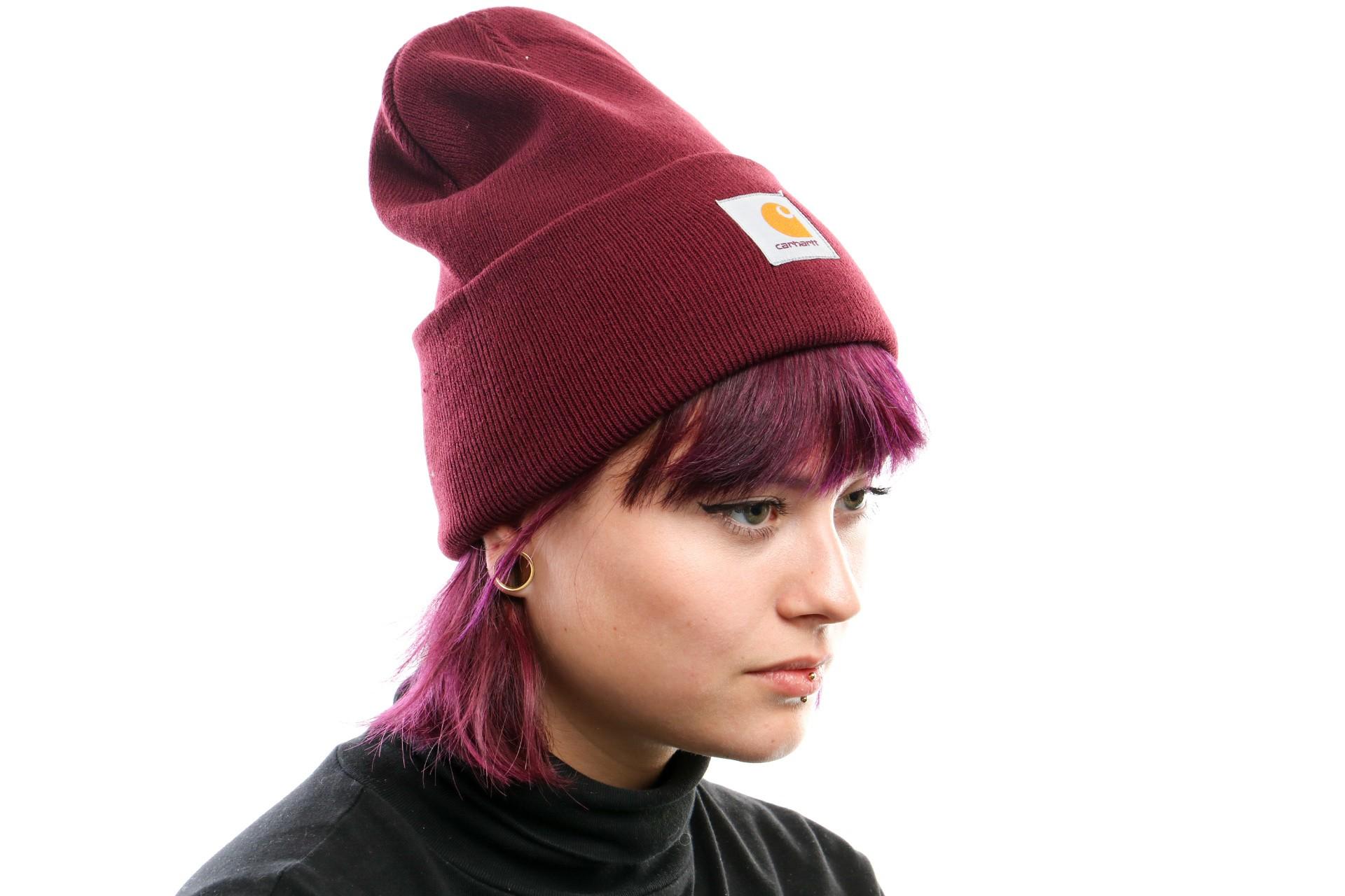 Foto van Carhartt Wip Acrylic Watch Hat I020222 Muts Merlot