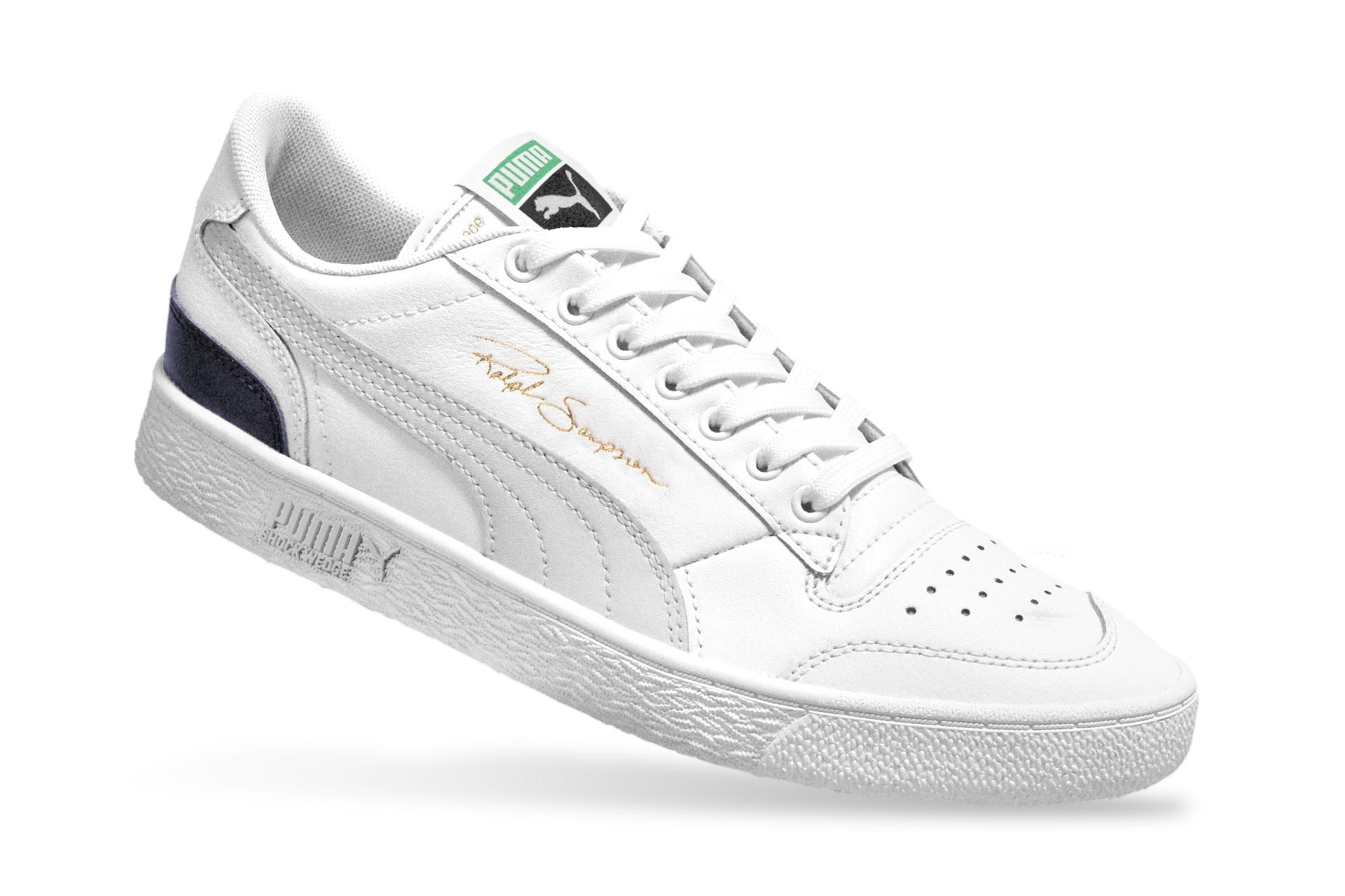 Foto van Puma Ralph Sampson Low Og 370719 01 Sneakers Puma White-Gray Violet-Peacoat April