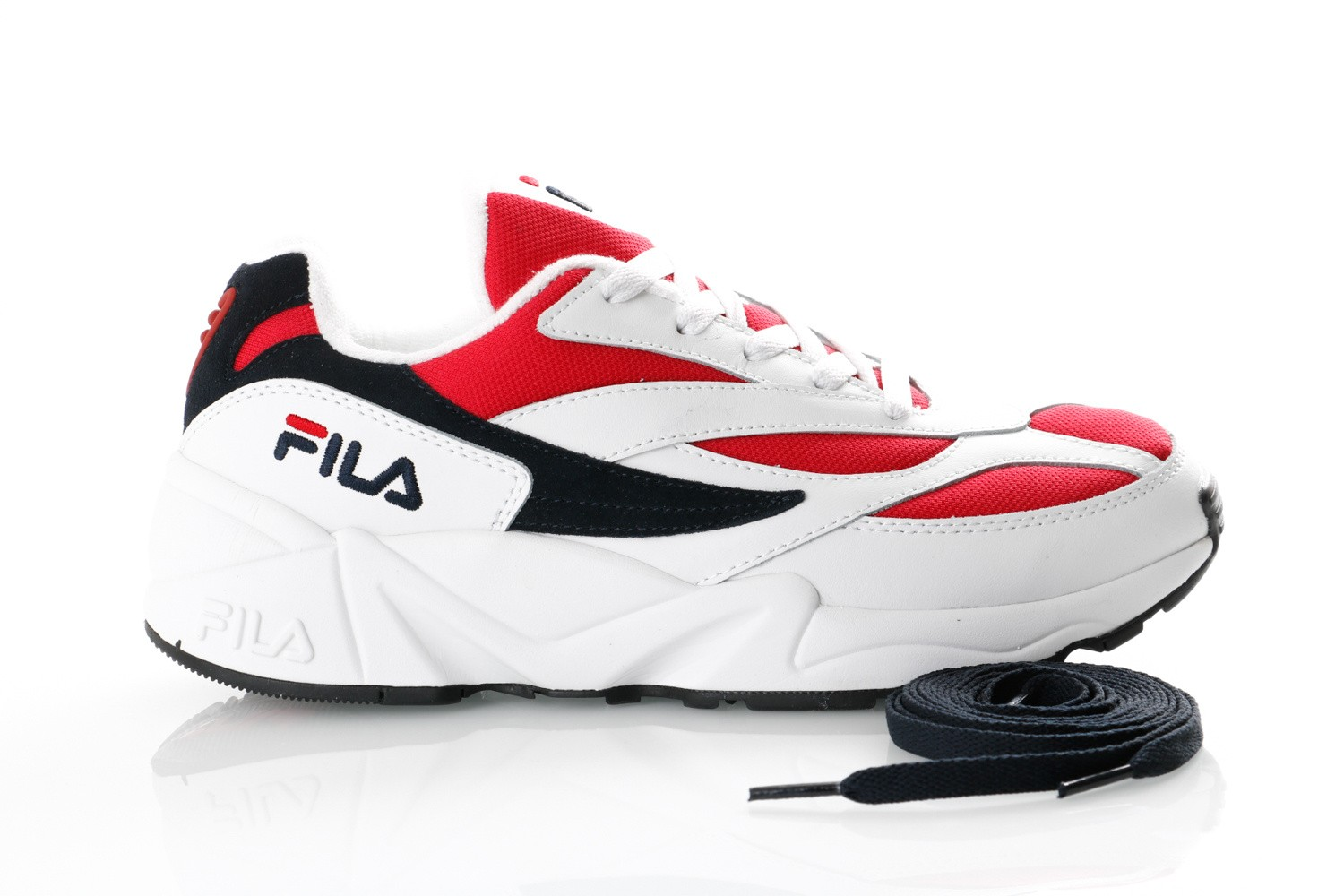 Foto van Fila V94M 1010255 Sneakers white/fila navy / fila red
