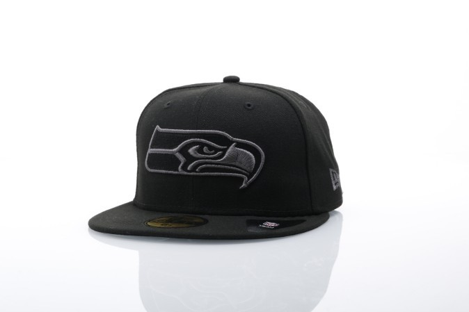 Foto van New Era 80536279 Fitted cap Black graphite 59fifty Seattle Seahawks Zwart