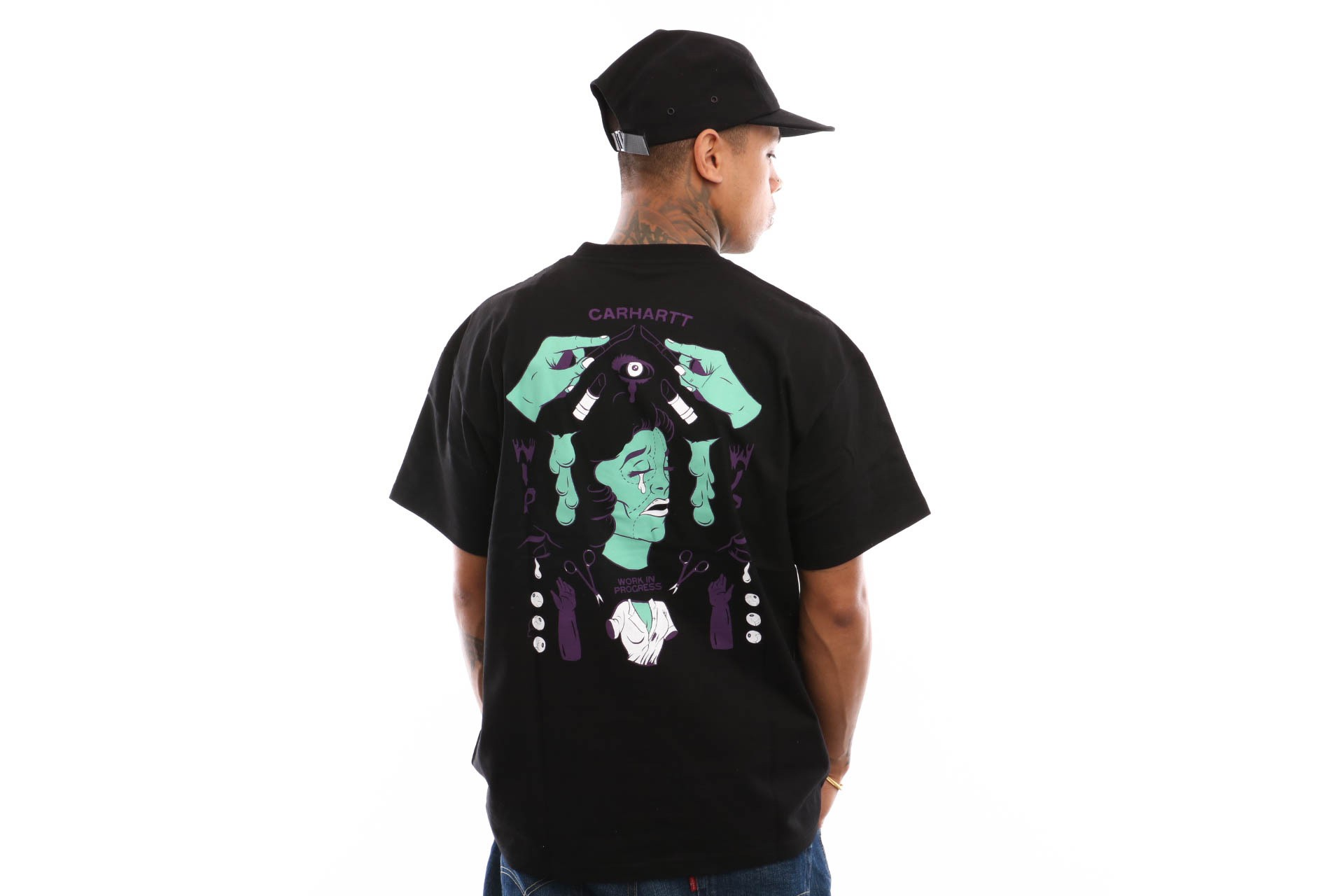 Foto van Carhartt Wip S/S Wip Horror T-Shirt I026415 T Shirt Black