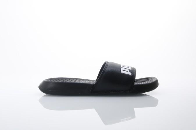 Foto van Puma 360265-10 Slide sandal Popcat Zwart
