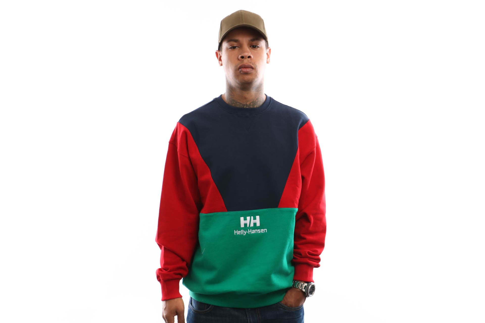 Foto van Helly Hansen Hh Urban Retro Sweat 29849 Crewneck Pepper Green