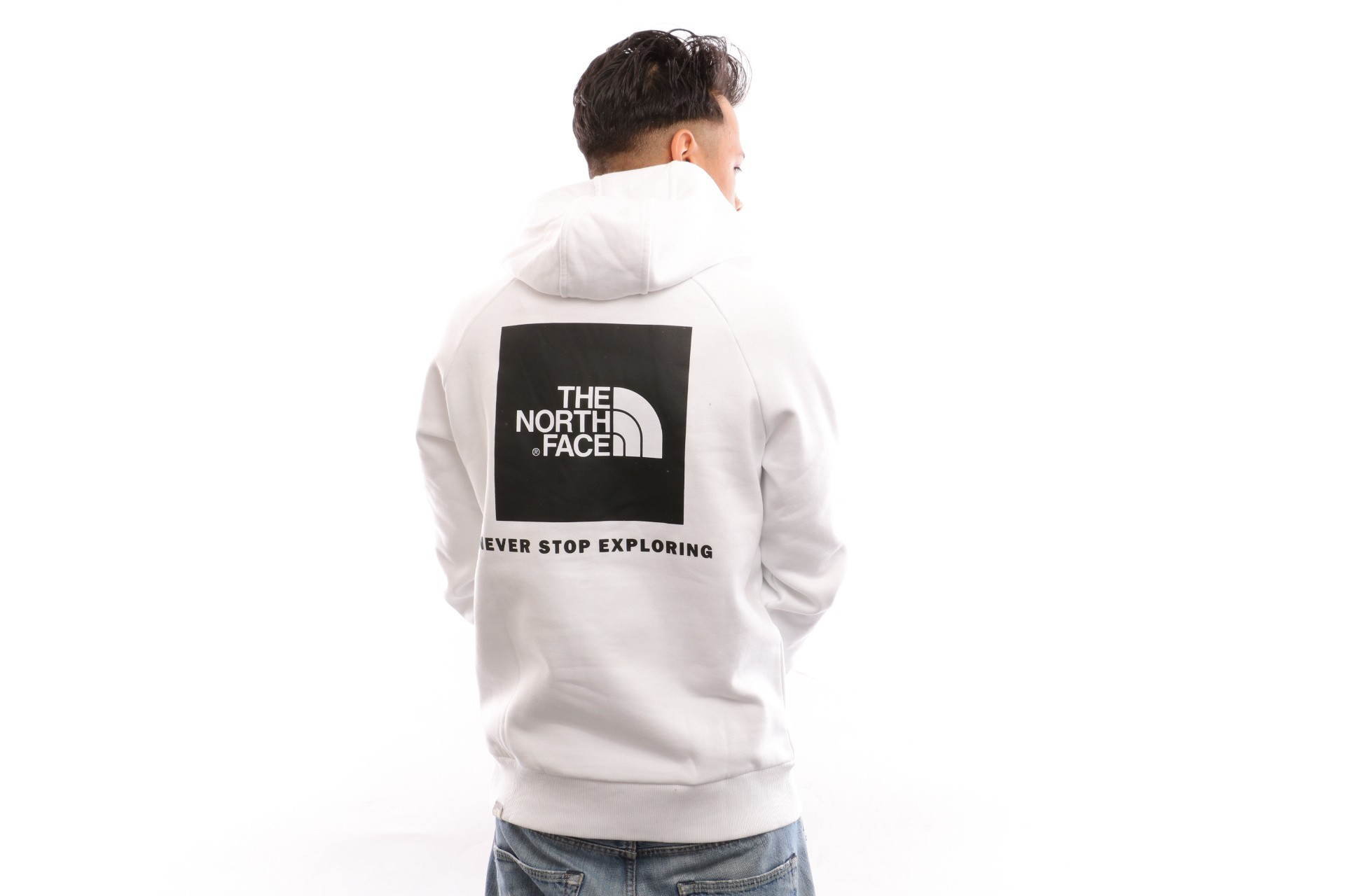 Foto van The North Face M Raglan Red Box Hd T92ZWUFN4 Hooded Tnf White