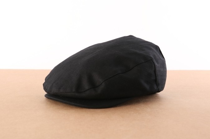 Foto van Brixton 00005-BLACK Flat cap Hooligan Zwart