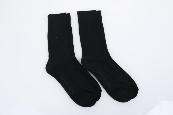 Foto van Levi's Bodywear 944011001-884 Socks 168LS regular cut 2-pack Zwart