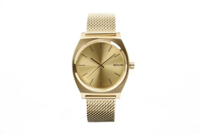 Foto van Nixon A1187-502 Watch Time teller milanese Goud