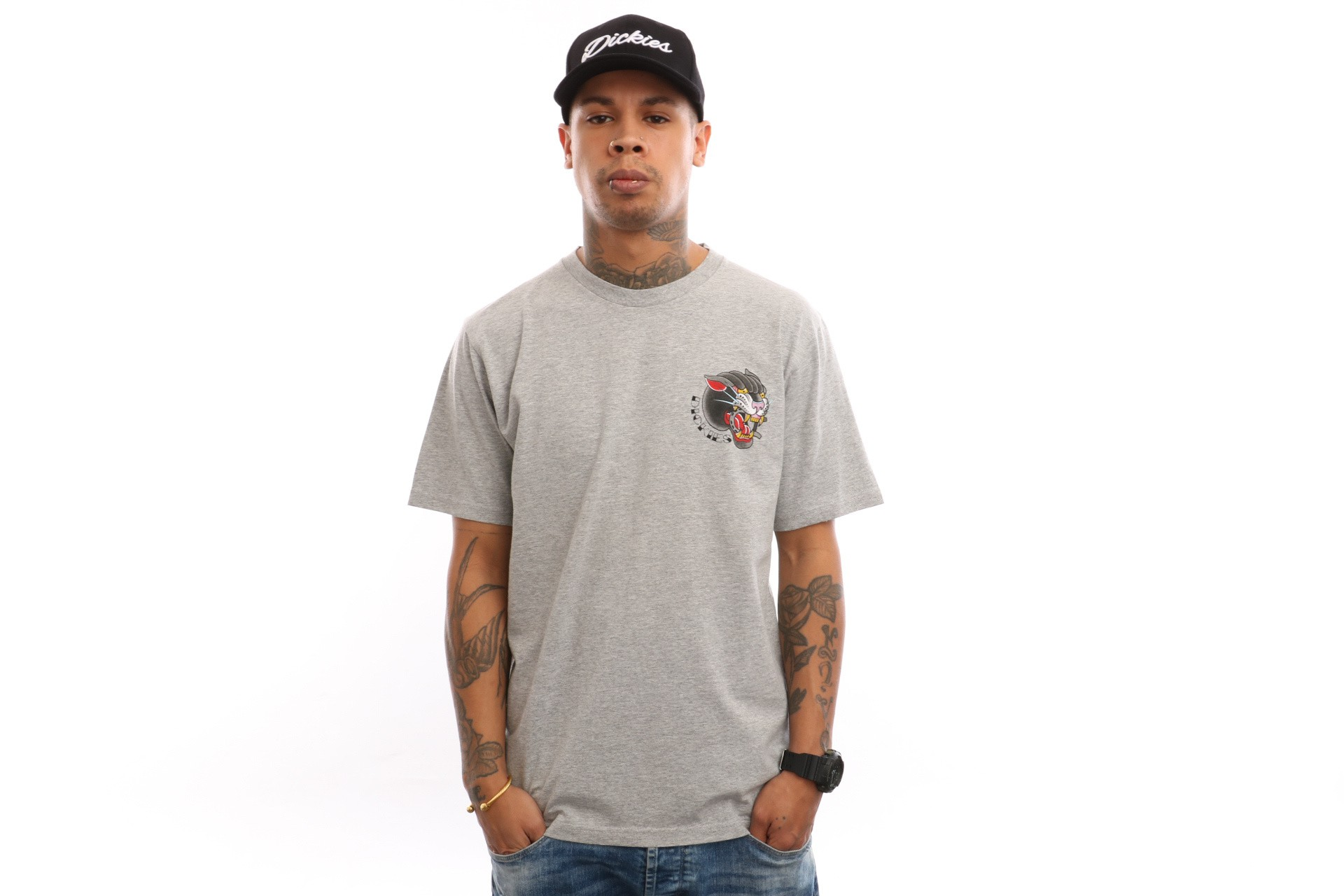 Foto van Dickies Johnsburg 06 210647 T Shirt Gray Melange