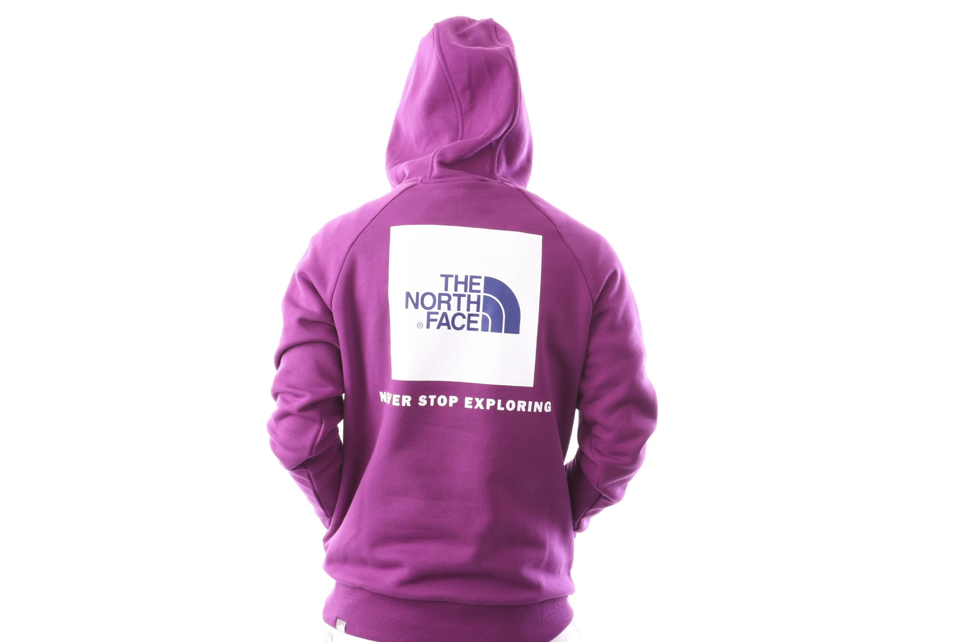 Foto van The North Face M Raglan Red Box Hd T92ZWU8NX Hooded Phlox Purple