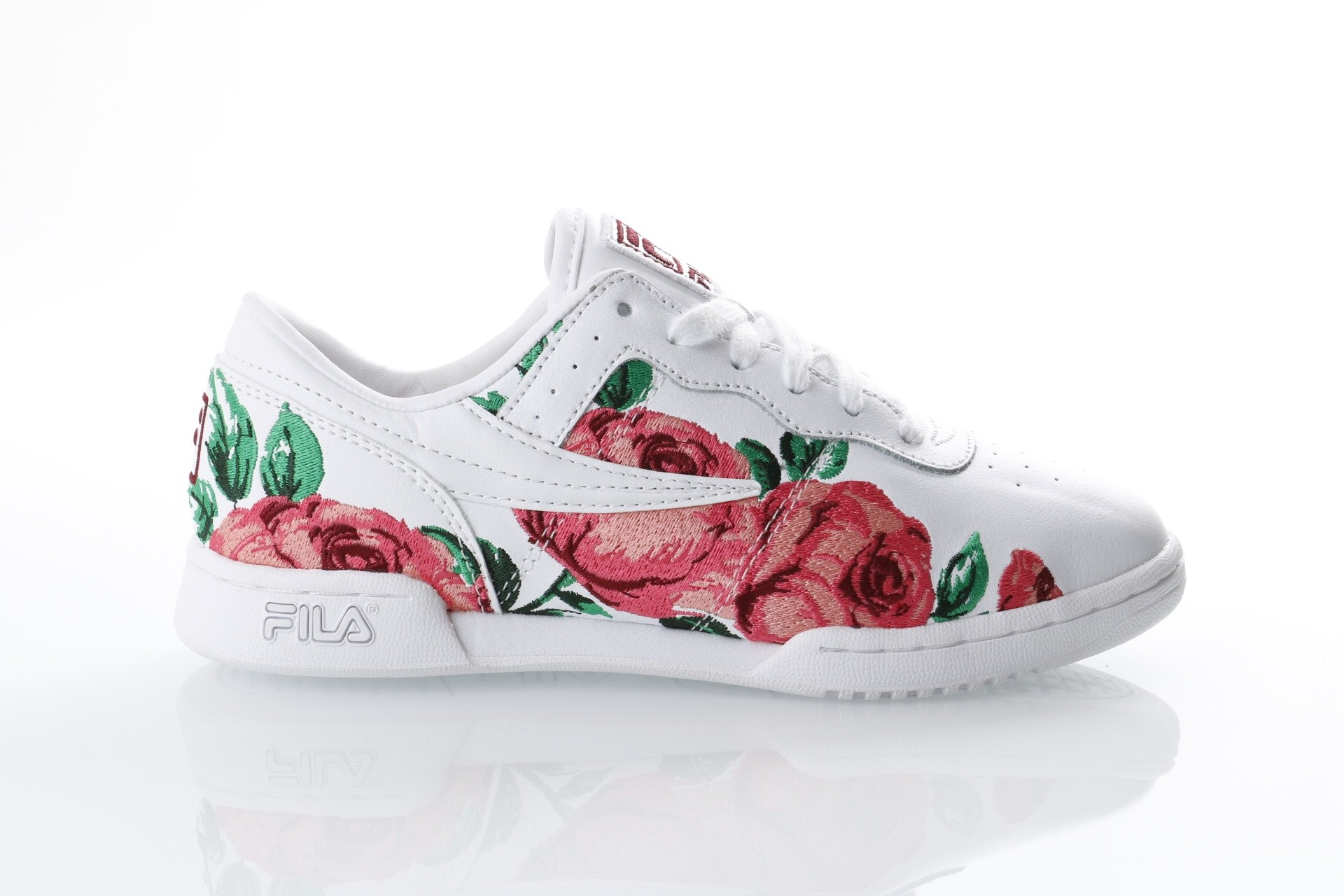 Foto van Fila Ladies 5FM00014-155 Sneakers Original fitness embroidery Wit