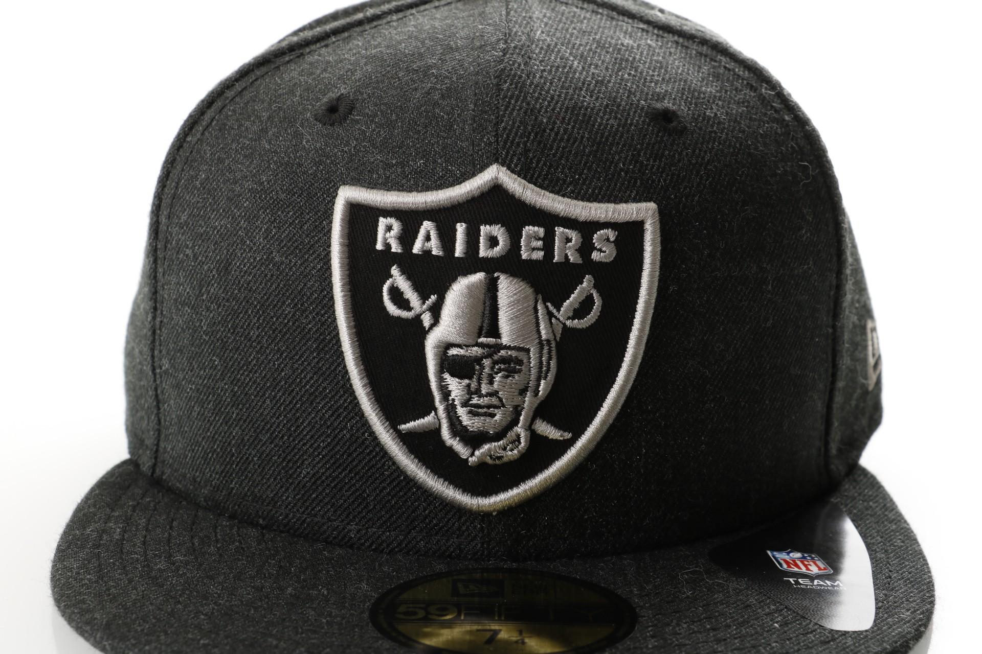 af60f290c9f Afbeelding van New Era Nfl Heather 5950 Oakland Raiders 11794648 Fitted Cap  Heather Black Gray