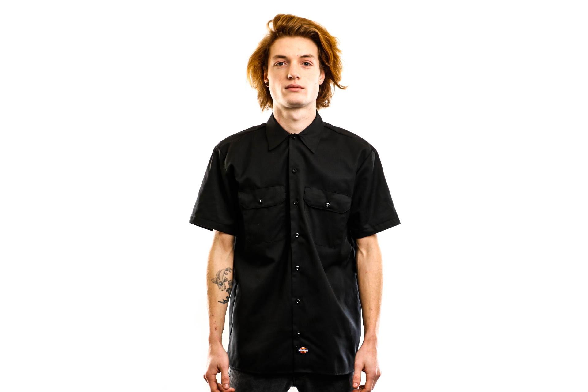 Foto van Dickies Overhemd Short Sleeve Work Shirt Black DK001574