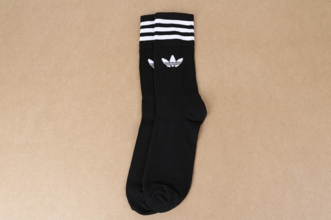 Foto van Adidas Originals S21490 Socks Solid Crew Zwart 3 Pack